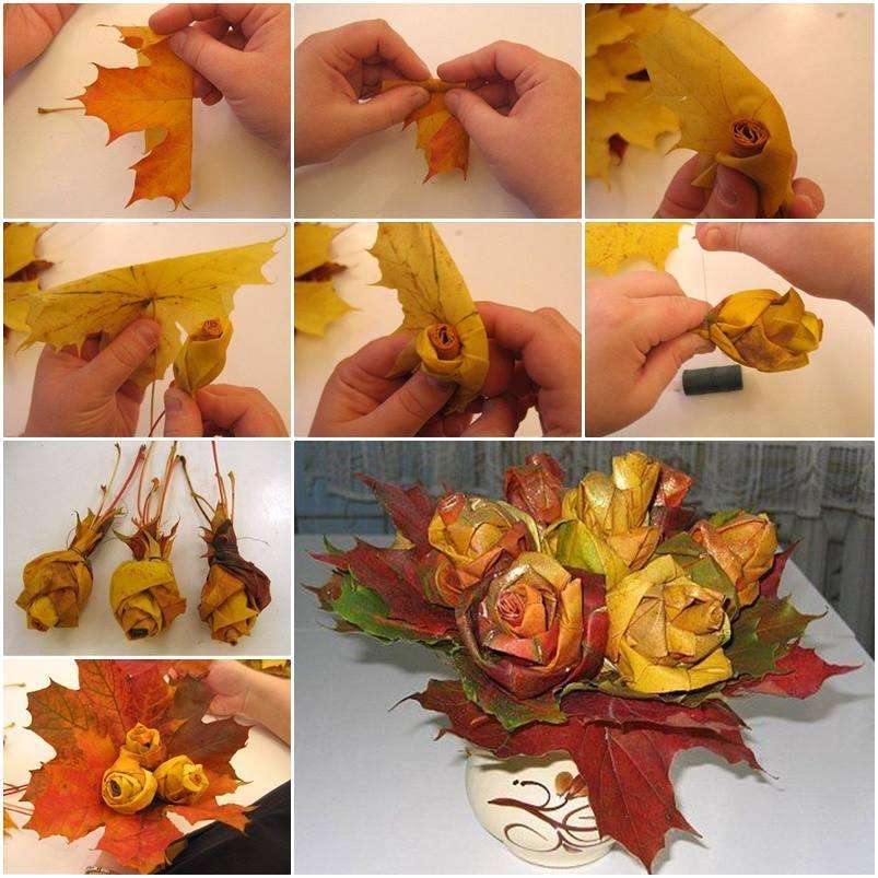 Осенние листья сделать своими руками как сделать